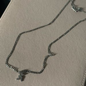 """Topshop """"K"""" silver initial necklace"""